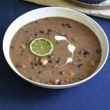 """Sweet Black Bean """"soup"""""""