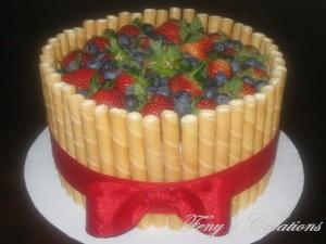 Wafer Stick & Fruits Cake_w
