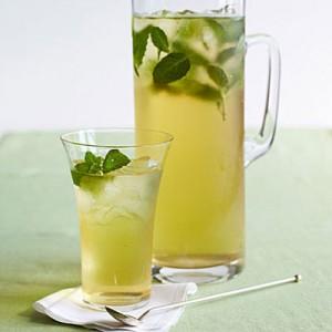 resep ice mint green tea
