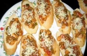 baguette daging paprika