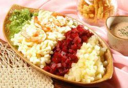 Salad Makaroni Saus Thousand Island